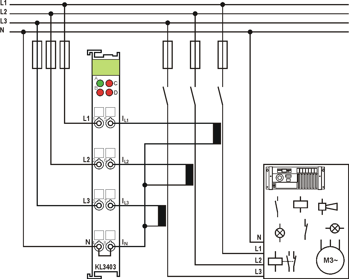 Avoid confusing the current and voltage circuit during connection, since  the direct connection of mains voltage to the terminal points for the  current ...